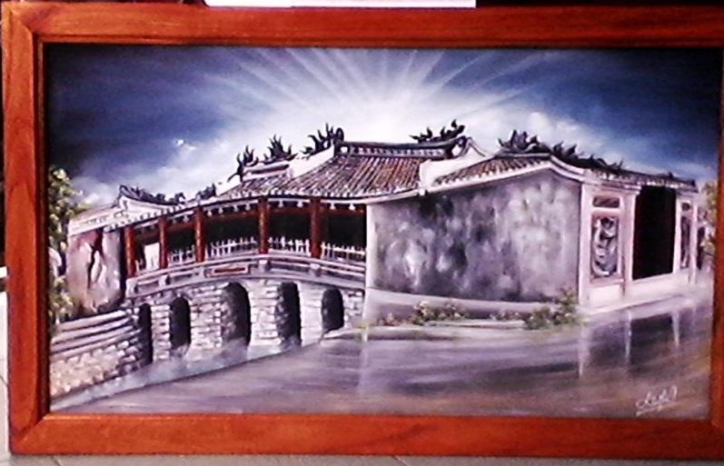 Tranh vẽ chùa Cầu