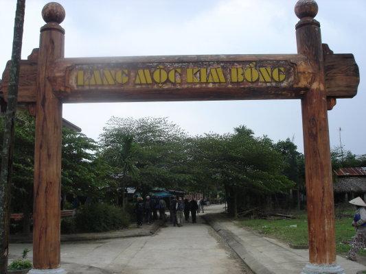 Cổng vào làng mộc Kim Bồng Hội An